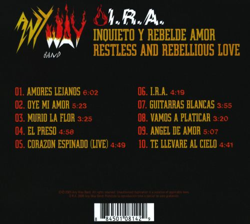 Inquieto y Rebelde Amor [Restless and Rebellious Love]