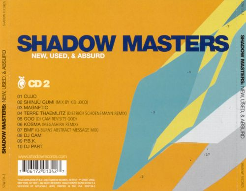Shadow Masters: New, Used & Absurd