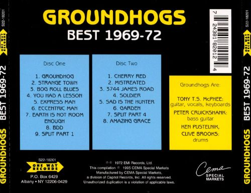 The Groundhogs Best 1969-72 [17 Tracks]