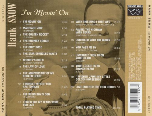 A Proper Introduction to Hank Snow: I'm Moving On