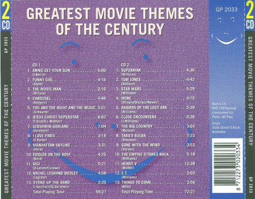 Greatest Movie Themes of the Century