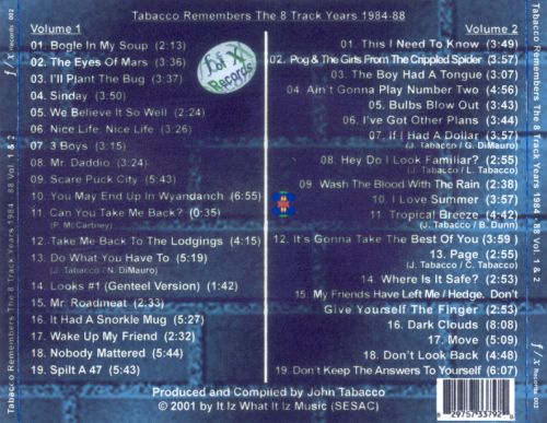 Tabacco Remembers the 8 Track Years 1984-88, Vol. 1 & 2
