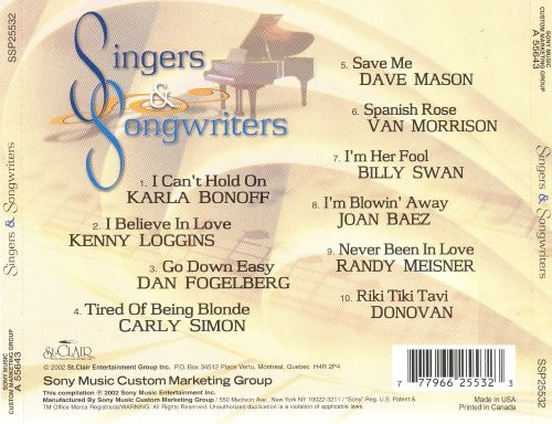 Singers and Songwriters