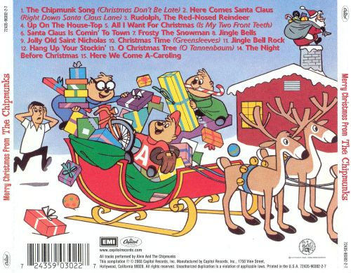Merry Christmas from the Chipmunks - The Chipmunks   Songs ...