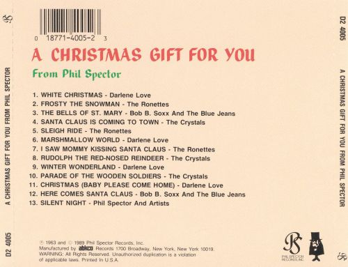 A Christmas Gift for You from Phil Spector - Phil Spector | Songs ...