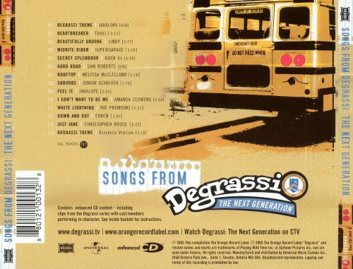 Songs from Degrassi: The Next Generation