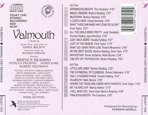 Valmouth (The Chichester Festival Theatre Production)