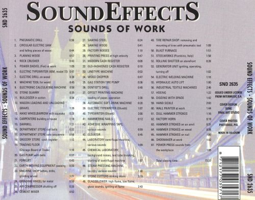 Sound Effects: Sounds of Work