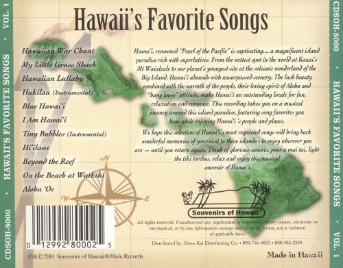 Hawaii's Favorite Songs, Vol. 1