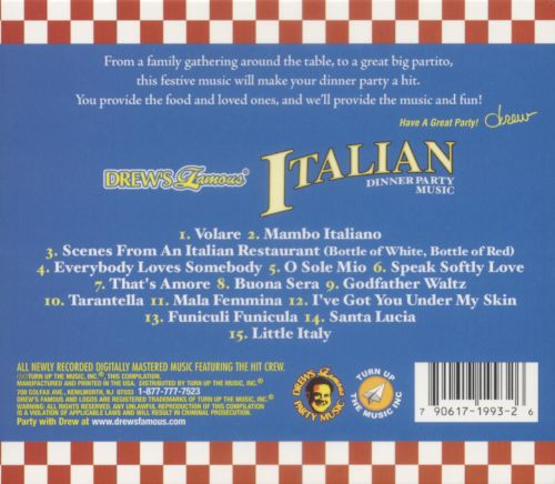Dinner Party Music drew's famous italian dinner party music - various artists | songs