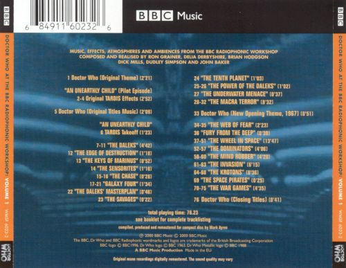 Doctor Who: At the BBC Radiophonic Workshop, Vol. 1