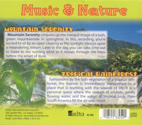 Music and Nature: Mountain Serenity/Tropical Rainforest