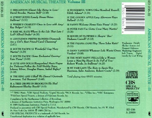 American Musical Theatre: Shows, Songs and Stars, Vol. 3