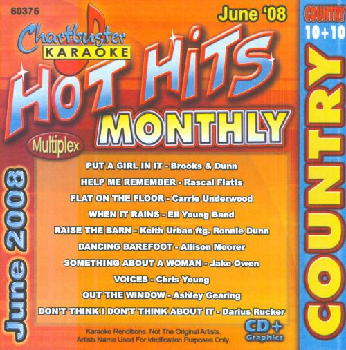Chartbuster Karaoke: Hot Hits Monthly 2008 Country