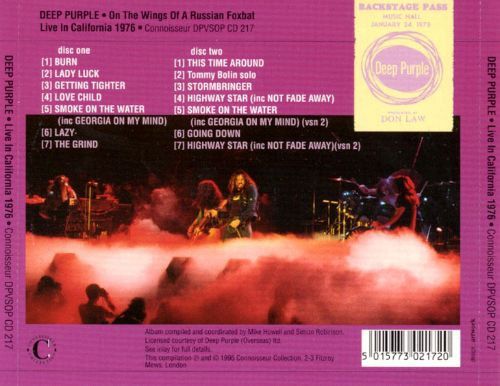 Live in California 1976: On the Wings of a Russian Foxbat