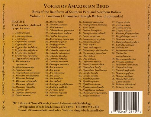 Voices of Amazonian Birds, Vol. 1: Tinamous Through Barbets