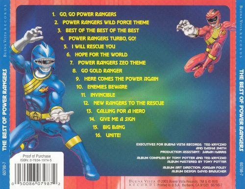 The Best of the Power Rangers: Songs from the TV Series