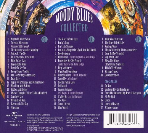 Collected - The Moody Blues | Songs, Reviews, Credits ...