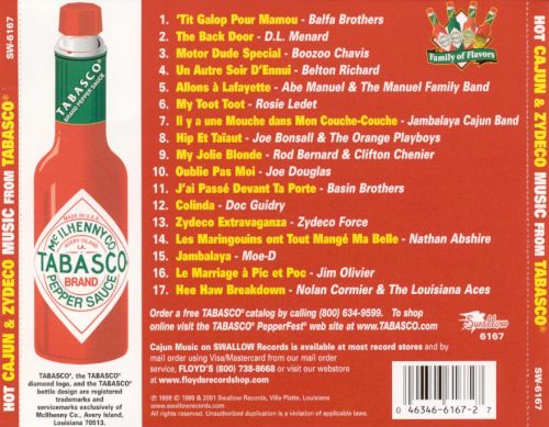 Hot Cajun and Zydeco Music from Tabasco