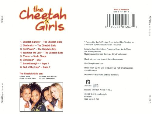 The cheetah girls the cheetah girls special edition soundtrack.