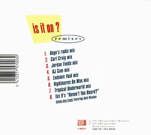 Is It On? [Remixes]