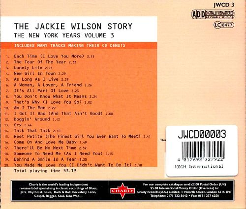 The Jackie Wilson Story: The New York Years, Vol. 3