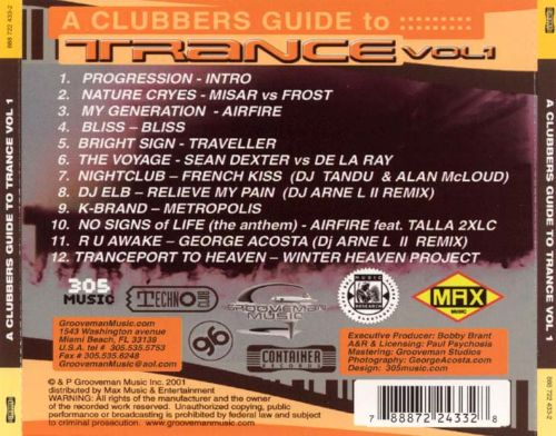 A Clubber's Guide to Trance, Vol. 1
