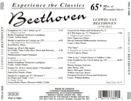 Experience the Classics: Beethoven