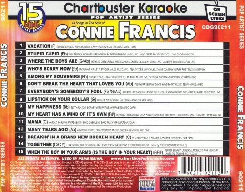 Chartbuster Karaoke: Connie Francis