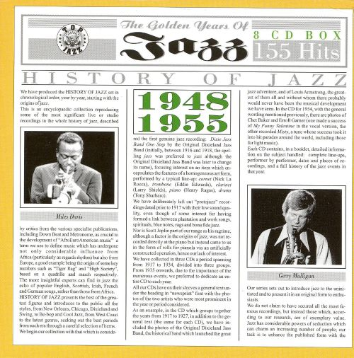 c67ed0f6806d5 Golden Years of Jazz 1948-1955 - Varied Artists