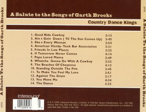 A Saluting the Songs of Garth Brooks