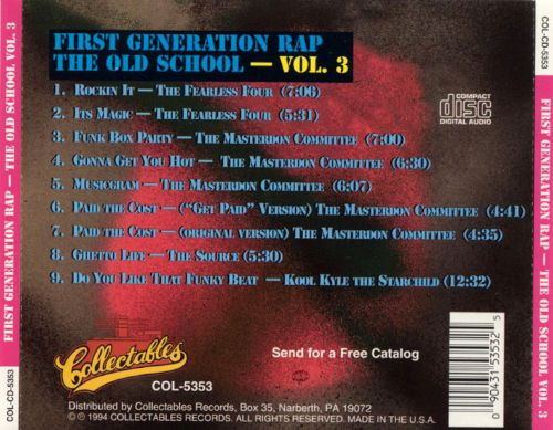 First Generation Rap: The Old School, Vol. 3