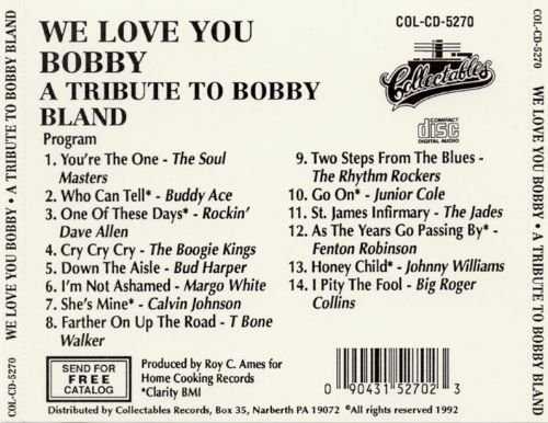We Love You Bobby: A Tribute To Bobby Bland