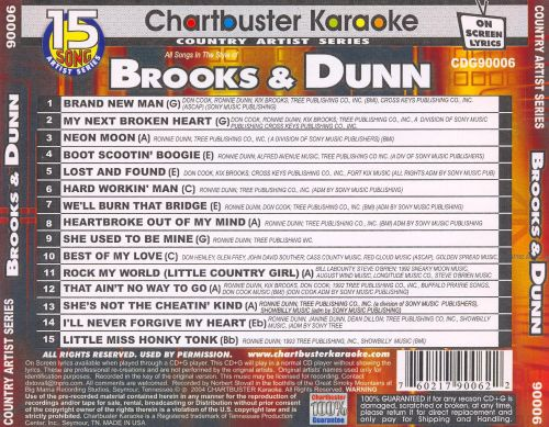 Chartbuster Karaoke: Brooks & Dunn, Vol. 1