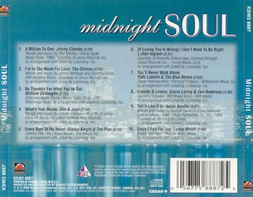 Midnight Soul [Madacy Disc 3]