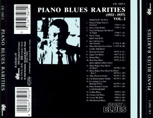 Piano Blues Rarities 1933-1937 [Story of the Blues/Peter Pan]
