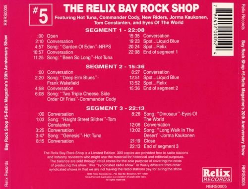 Relix Bay Rock Shop, Vol. 5