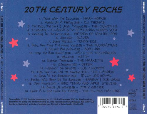 20th Century Rocks, Vol. 8: '60s Pop - Those Were the Days