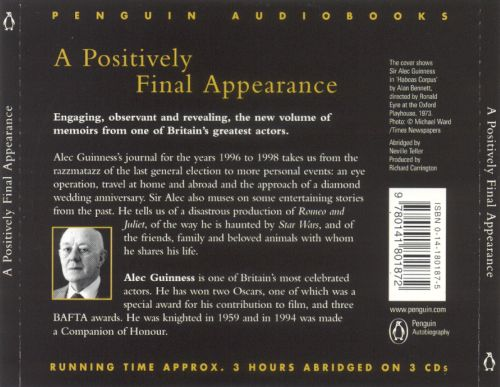 A Positively Final Appearance: A Journal, 1996-1998 [Audiobook]