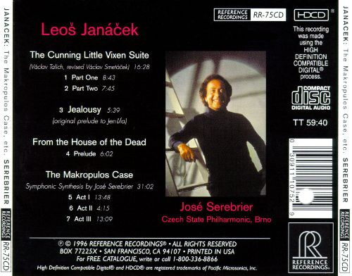 Leos Janáček:The Makropulos Case, Etc.