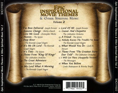 epic inspirational movie themes vol 2 various artists songs