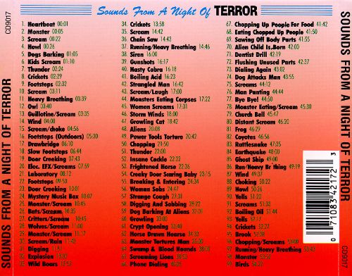 Sounds from a Night of Terror