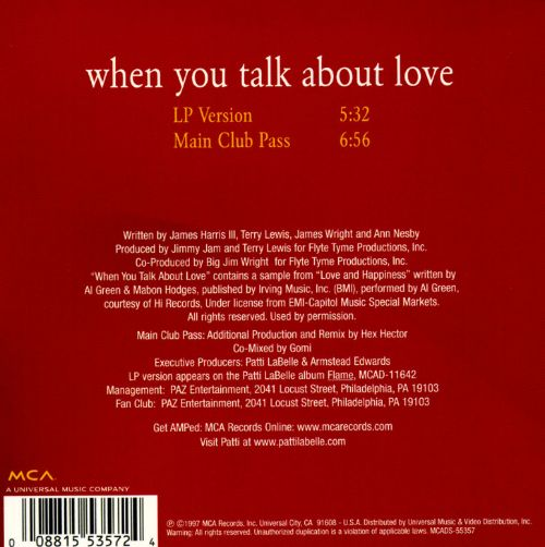 When You Talk About Love [CD Singles]