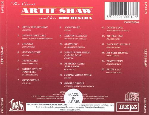 Artie Shaw and His Orchestra [Javelin]