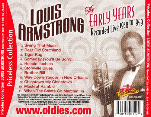 Early Years: Recorded Live 1938-1949