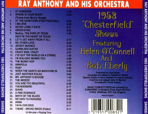 1953 Chesterfield Shows