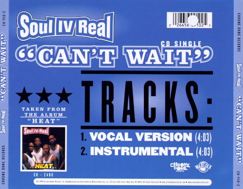 Cant Wait - Soul for Real   Songs, Reviews, Credits