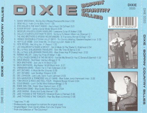Dixie Boppin' Country Billies, Vol. 1