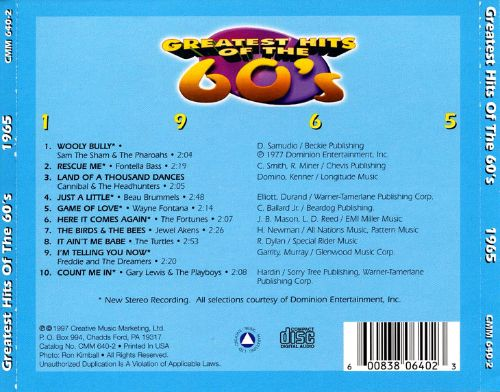 Greatest Hits of the 60's: 1965