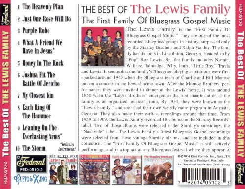 The Best of the Lewis Family [Federal]